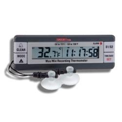 2-kanalig kyl- och frystermometer med larm och tidsmarkering